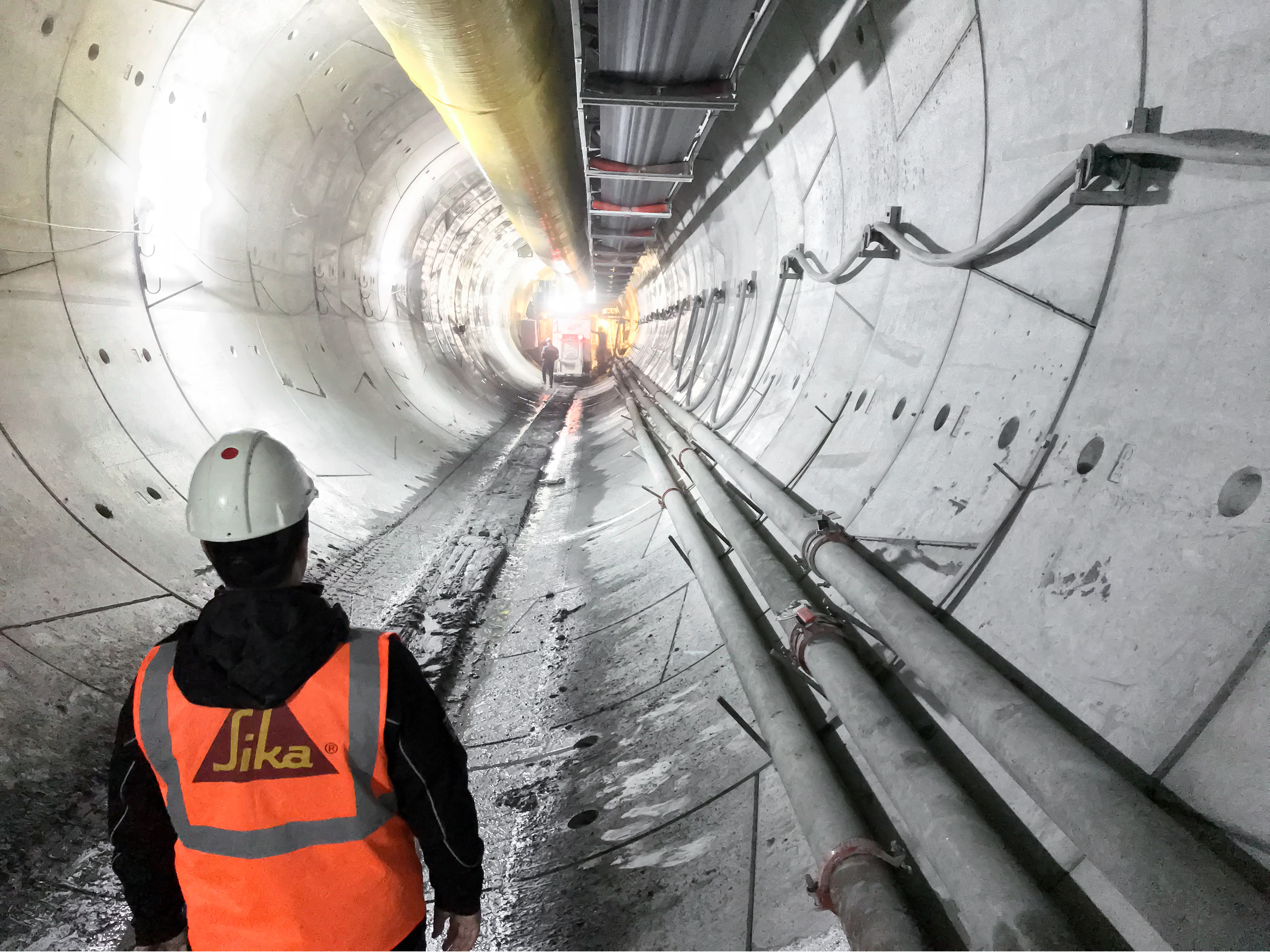 Construction of Metro Dudullu in Istanbul, Turkey