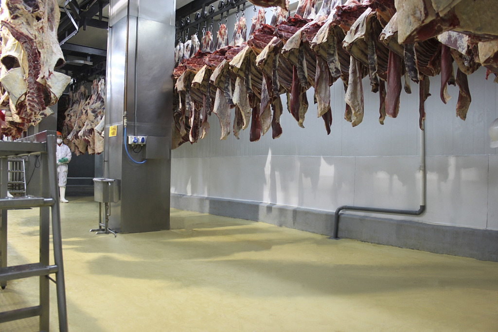 Hygienic Floor in Meat Processing Plant